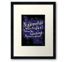Nightmare Night Framed Print