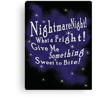 Nightmare Night Canvas Print