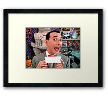 Pee Wee Herman - Write Your Own Framed Print