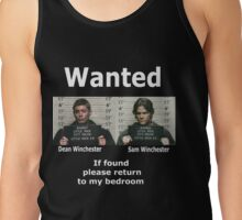 Winchesters Wanted... With white lettering  Tank Top