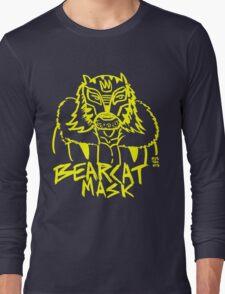 BOOTLEG WRASSLER BEARCAT MASK - YELLOW Long Sleeve T-Shirt
