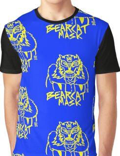 BOOTLEG WRASSLER BEARCAT MASK - YELLOW Graphic T-Shirt