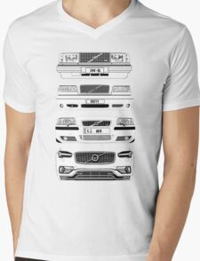 Volvo's Fab Four Chassis Mens V-Neck T-Shirt