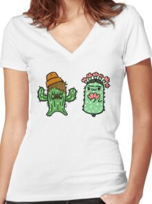 Prickly Pair Women's Fitted V-Neck T-Shirt