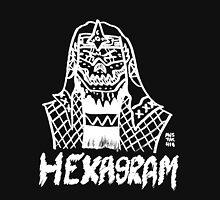 BOOTLEG WRASSLER HEXAGRAM - NEGATIVE Womens Fitted T-Shirt