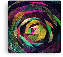 Quilted Rose Canvas Print