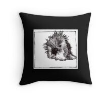 Graphic Porcupine Throw Pillow