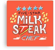 Five-Star Milk Steak Chef Canvas Print