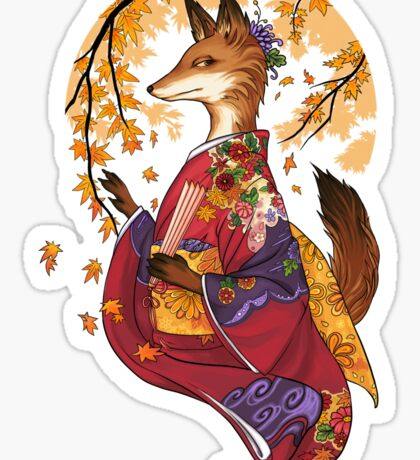 Maple Kitsune Sticker