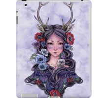Dark Faun Girl with Flowers iPad Case/Skin