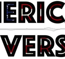 American University Flag letters Sticker