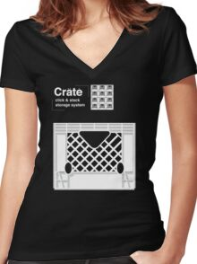 Crate System Women's Fitted V-Neck T-Shirt