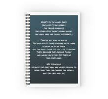 Steve Jobs Quote Spiral Notebook