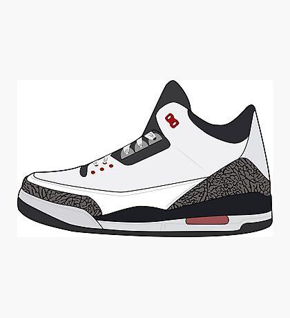 Air Jordan 3 Photographic Print