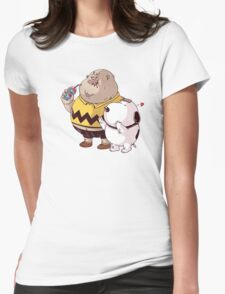 fat snoopy Womens Fitted T-Shirt