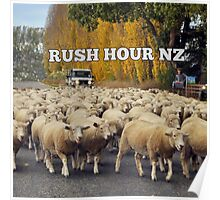 A New Zealand traffic jam Poster