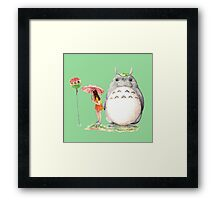 grown up totoro Framed Print