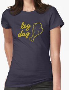 Leg Day (Gold) Womens Fitted T-Shirt