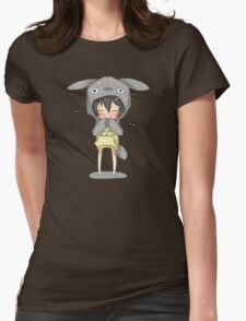 totoro cosplay Womens Fitted T-Shirt