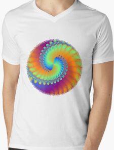 Color Wheel Mens V-Neck T-Shirt