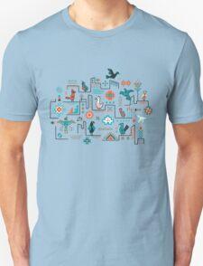 Southwestern Folk Birds Unisex T-Shirt