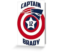Brady Mashup Captain  Greeting Card