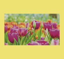 Colorful Tulips Baby Tee