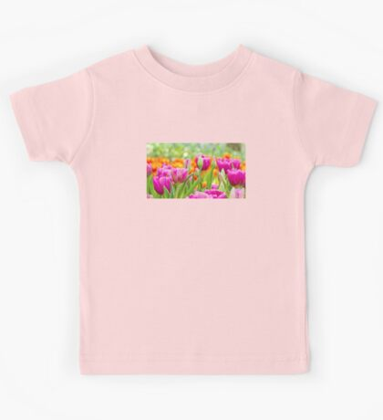Colorful Tulips Kids Tee