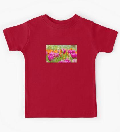 Colorful Tulips Kids Tee