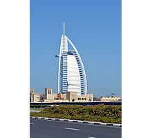 Photography of Burj al Arab hotel from Dubai, United Arab Emirates. Photographic Print