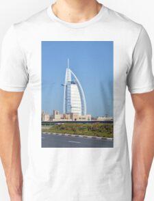 Photography of Burj al Arab hotel from Dubai, United Arab Emirates. Unisex T-Shirt