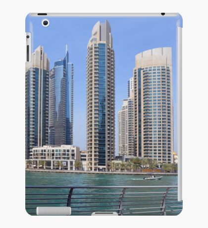 Photography of tall buildings, skyscrapers from Dubai, United Arab Emirates. iPad Case/Skin