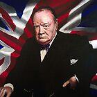 Sir Winston Churchill by Jan Szymczuk