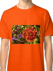 Beautiful colorful red flower in the garden. Classic T-Shirt