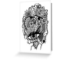 Rectangle Aussie Tangle 2  Greeting Card