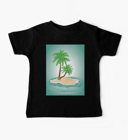 Palm Tree on Island 2 Baby Tee