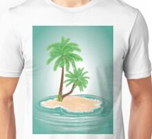 Palm Tree on Island 2 Unisex T-Shirt