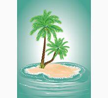 Palm Tree on Island 2 Unisex T-Shirt