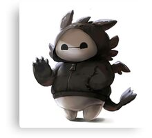 Baymax Like as Toothless Canvas Print