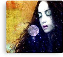 Full Moon Gaze Canvas Print