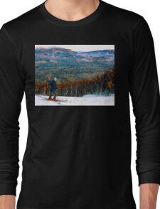 Skiing Mt. Sugarloaf Long Sleeve T-Shirt