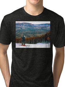 Skiing Mt. Sugarloaf Tri-blend T-Shirt