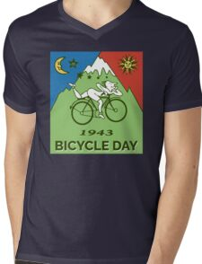 LSD - Bicycle Day 1943 Vintage T-Shirts Mens V-Neck T-Shirt