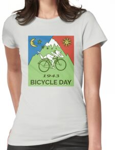 LSD - Bicycle Day 1943 Vintage T-Shirts Womens Fitted T-Shirt