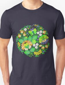 Green Summer Floral T-Shirt