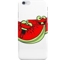 melon slices 2 pieces few watermelon eating delicious comic cartoon funny faces team buddies iPhone Case/Skin