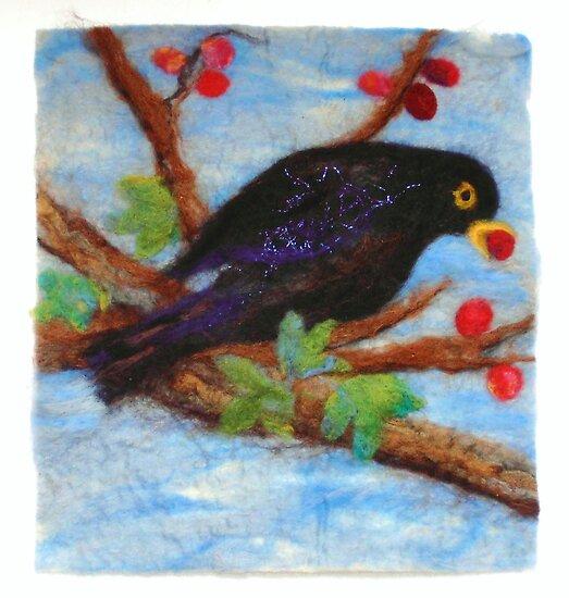 Hungry Blackbird by Susan Duffey
