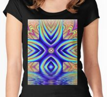 Abstract Flow Women's Fitted Scoop T-Shirt