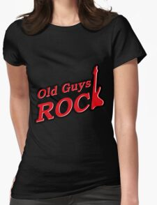 Old Guys Rock Red Womens Fitted T-Shirt
