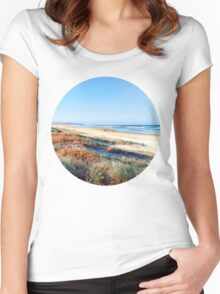 Beach Summer Women's Fitted Scoop T-Shirt